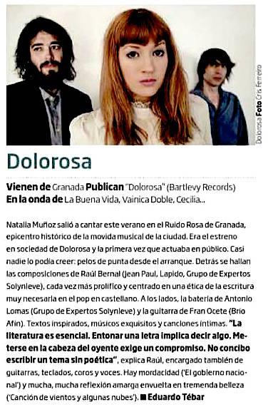 Dolorosa, primera resena 2014