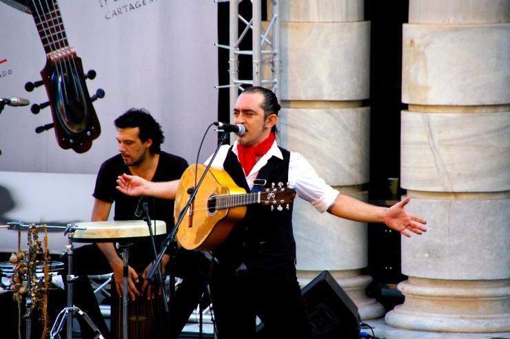 Raúl Rodríguez, en el festival La Mar de Músicas, Cartagena, en 2015.